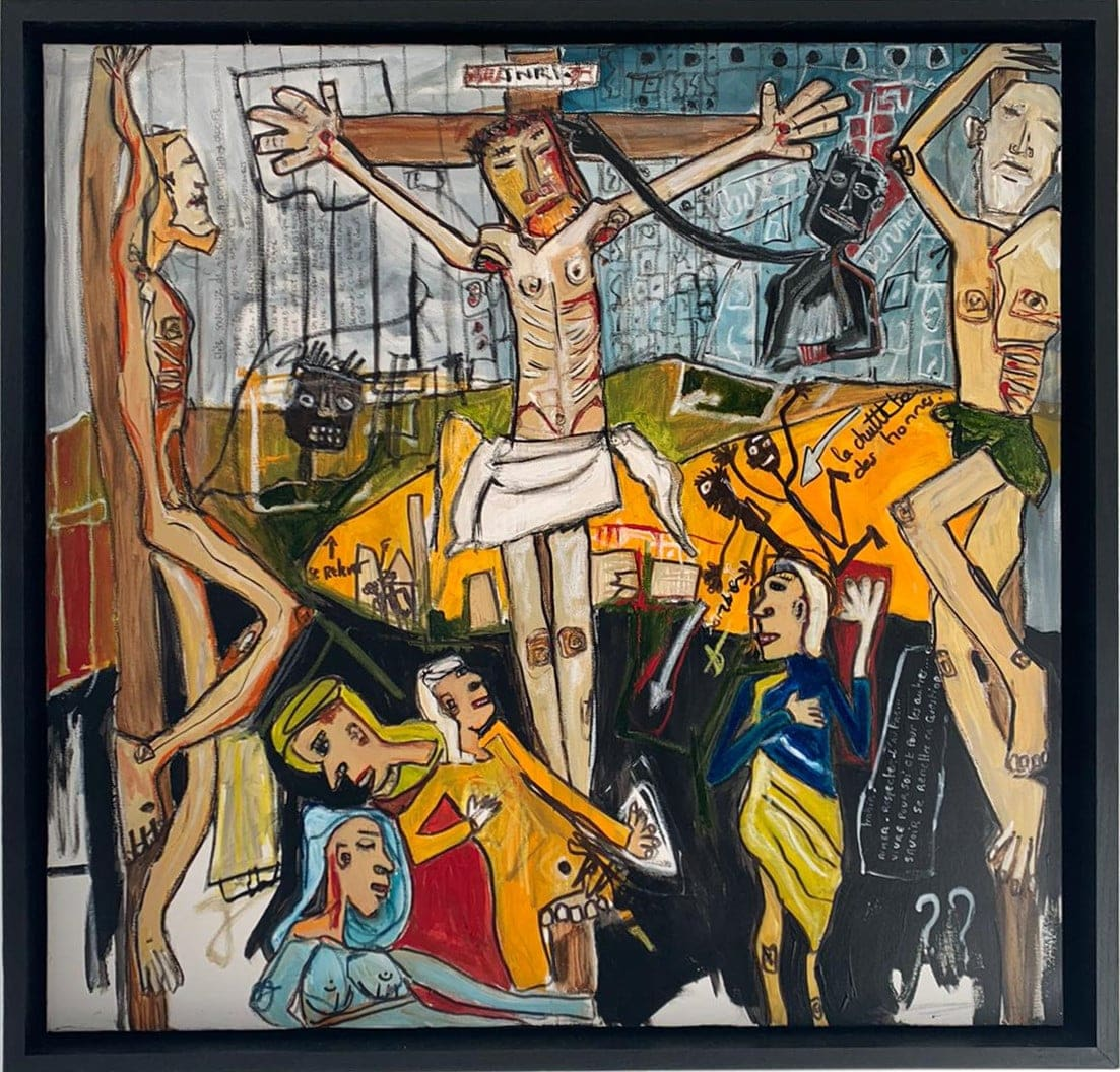 Martine coloos - Crucification - 100x100-min