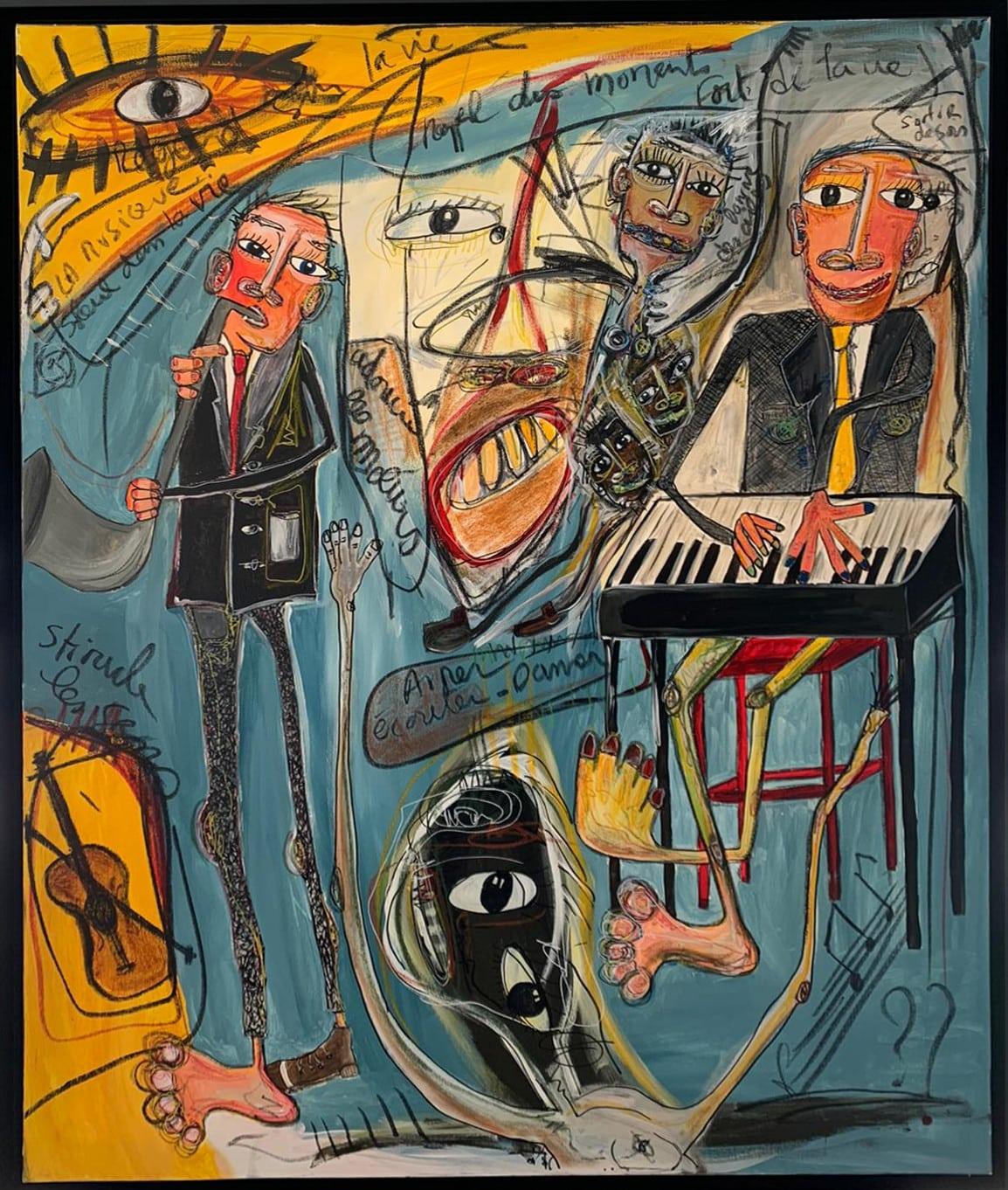 Martine coloos - La musique et les souvenirs - 120x150-min