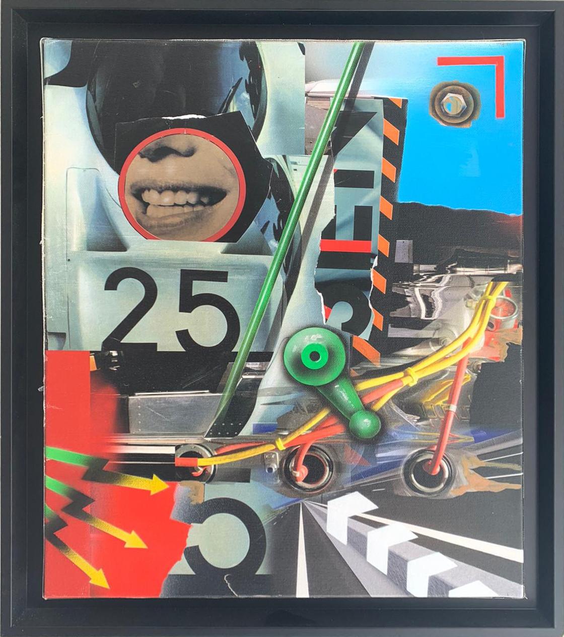 Peter Klasen-sourie manette verte-38x46